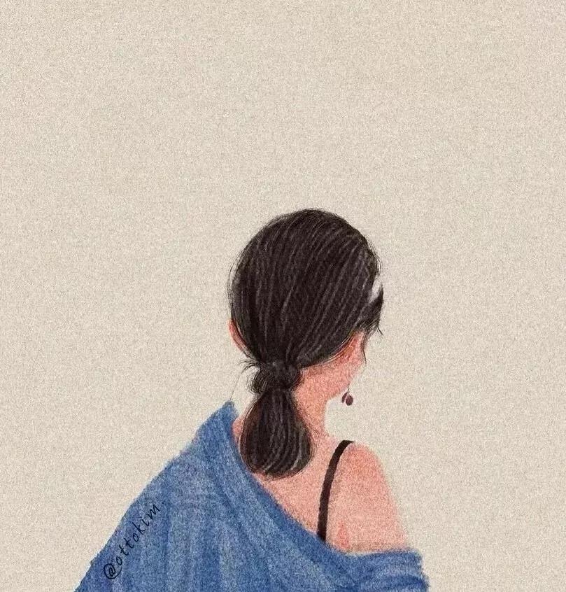 抖音最新手绘女生头像 超好看甜美情头像