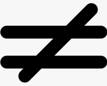 表示不等于的符号有哪些?不等于符号在电脑上怎么打