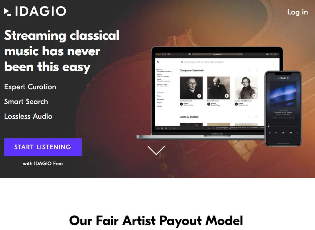 IDAGIO官网 免费提供200万首古典音乐录音线上收听