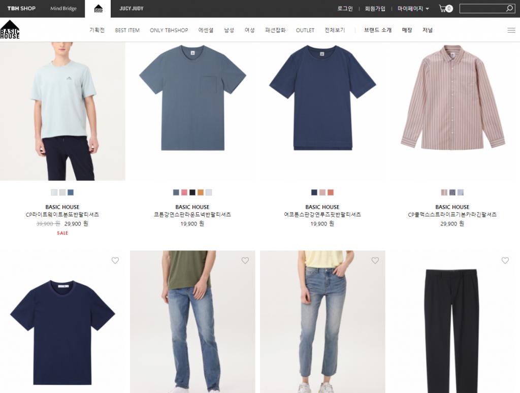 百家好BasicHouse官网 韩国著名时尚服装品牌
