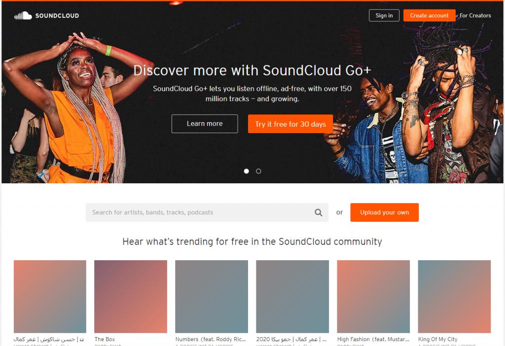 SoundCloud官网 德国音乐分享社区
