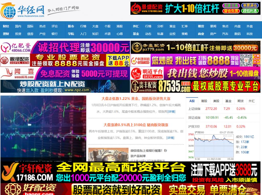 华经网 专注于股票期货基金外汇等行情分析
