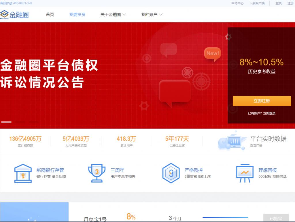 Formax金融圈官网介绍(jrq.com) P2P理财项目,投资理财,集合理财