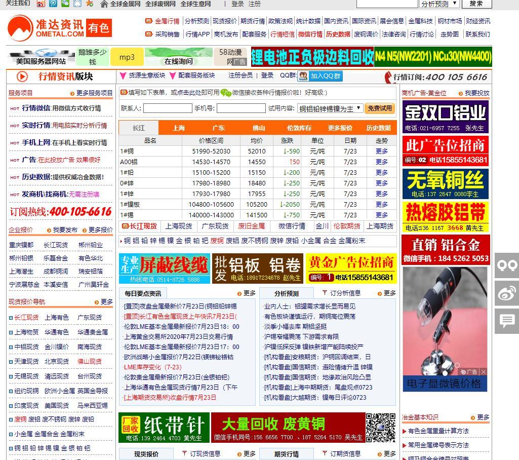 全球金属网 上海有色金属网行情,报价,走势