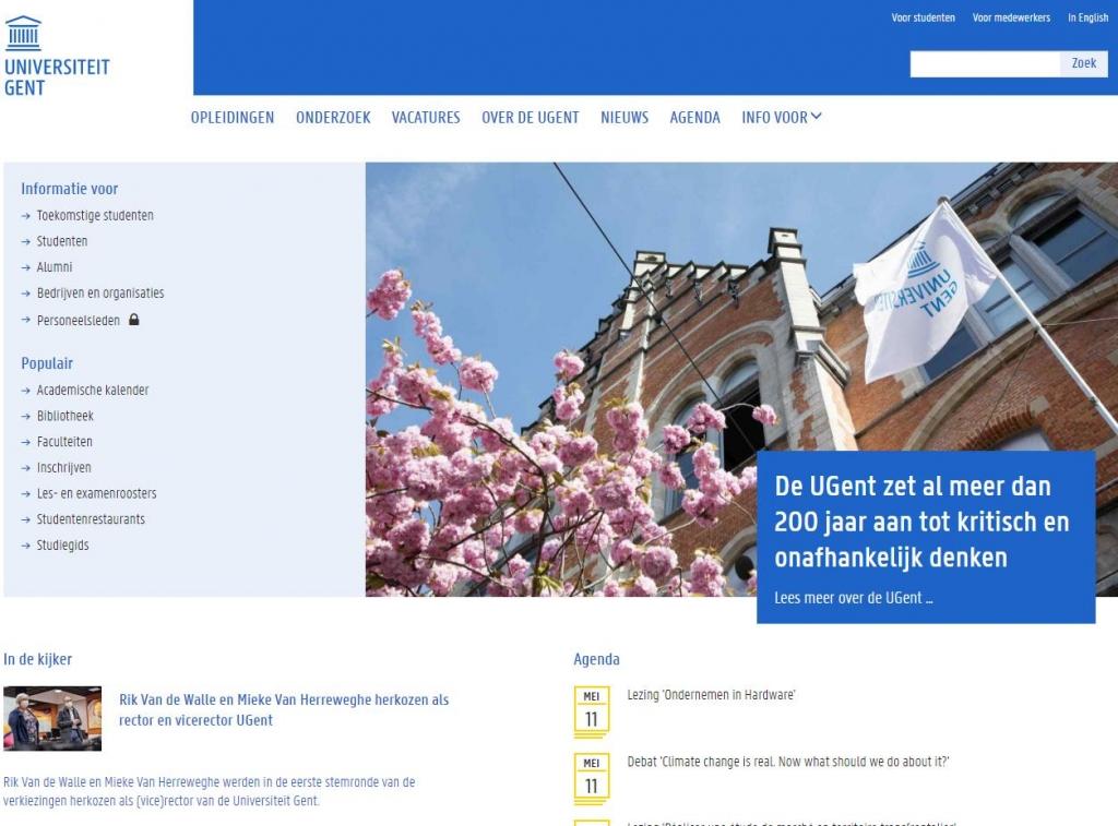 根特大学官网 Universiteit Gent