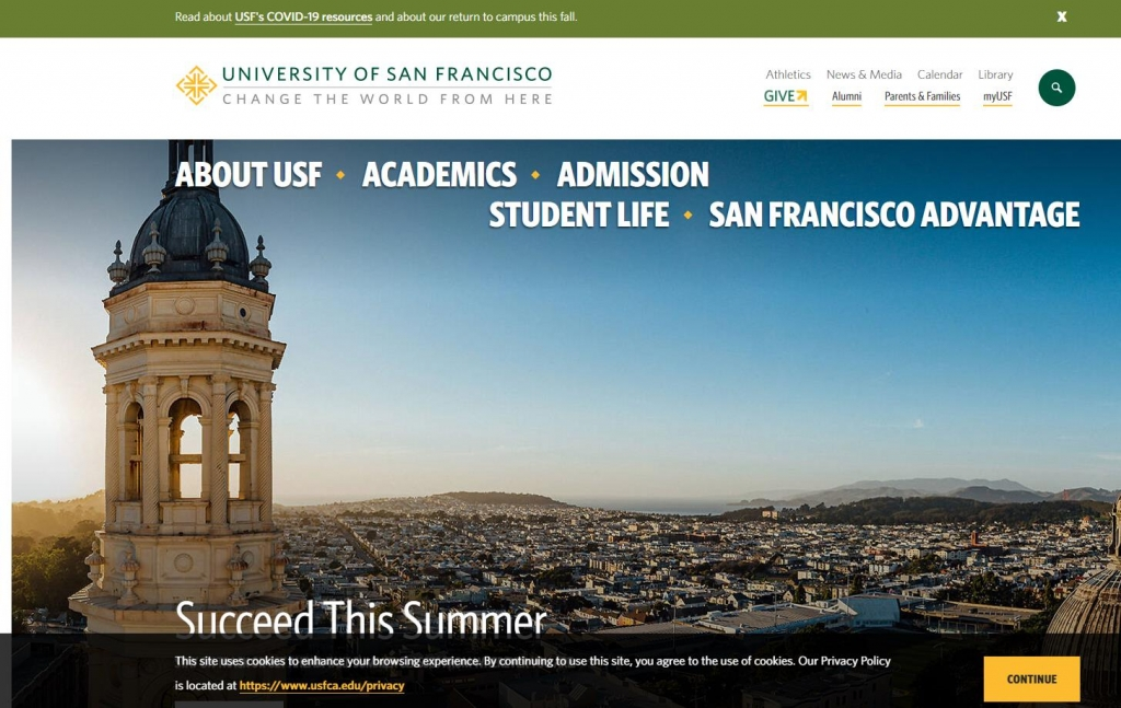 旧金山大学(usfca)官网