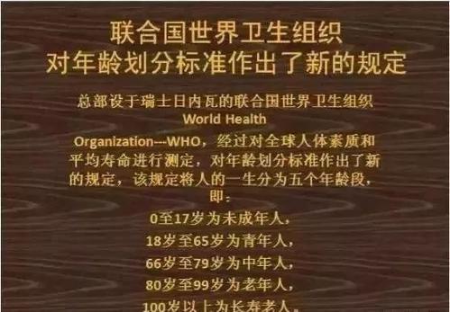 中国2021年龄划分新标准