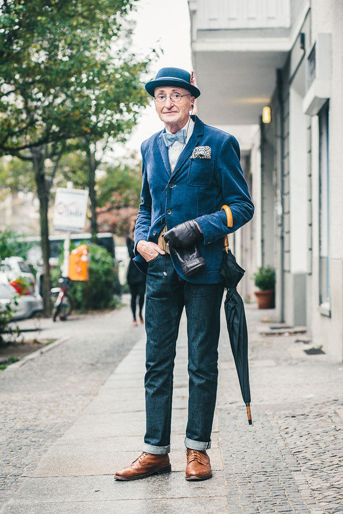 时尚老先生走红网络,时尚从来不分年龄